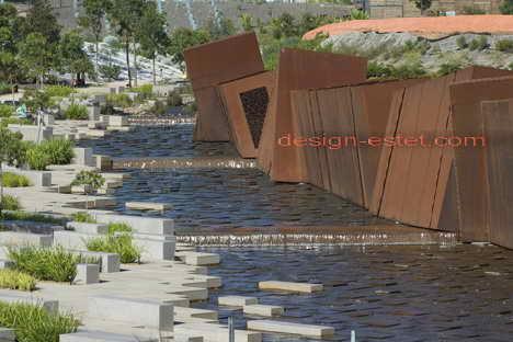Кортеновская сталь - ржавый металл в дизайне австралийского ботанического сада