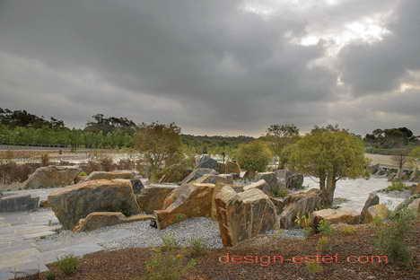 Сад камней в австралийском ботаническом саду