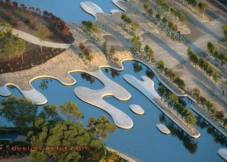 Дизайн водоемов в ландшафте ботанического сада в Австралии