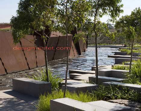 Дизайн пруда в австралийском ботаническом саду