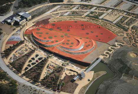 Сад красного песка в австралийском парке