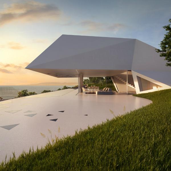 Ландшафтный дизайн придомовой территории в стиле хай-тек