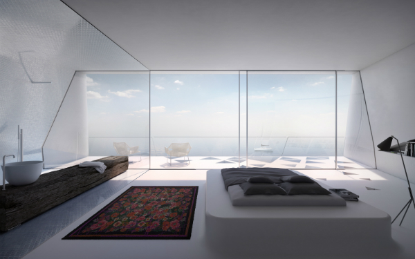 Интерьеры частного дома в стиле хай-тек