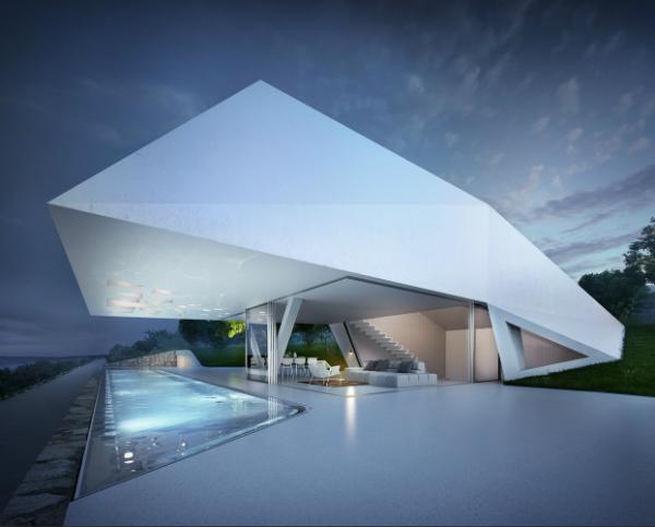 Частный дом в стиле хай-тек - архитектура и дизайн интерьеров