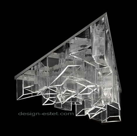 Дизайнерская люстра Даниэля Либескинда из чешского хрусталя