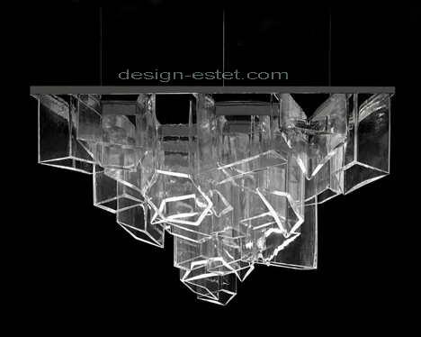 Потолочная люстра с хрустальными подвесками из Чехии