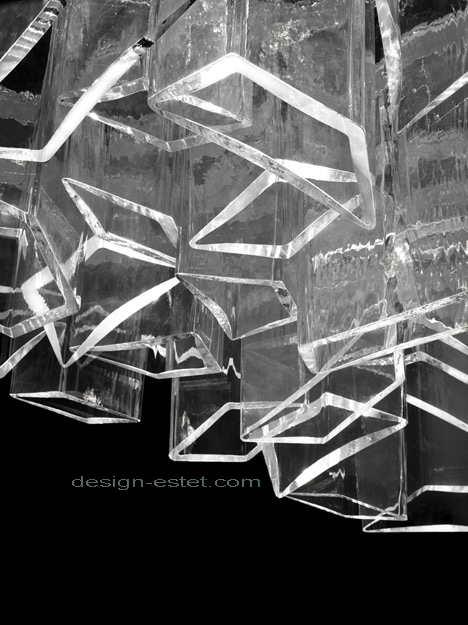 Потолочная люстра из чешского хрусталя
