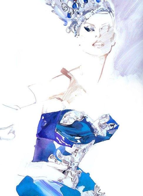 Иллюстратор Дэвид Даунтон для мира моды