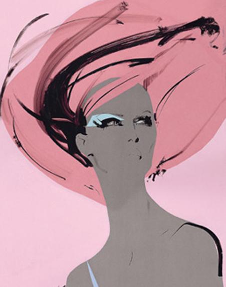 Иллюстратор Дэвид Даунтон - рисунки для модных журналов