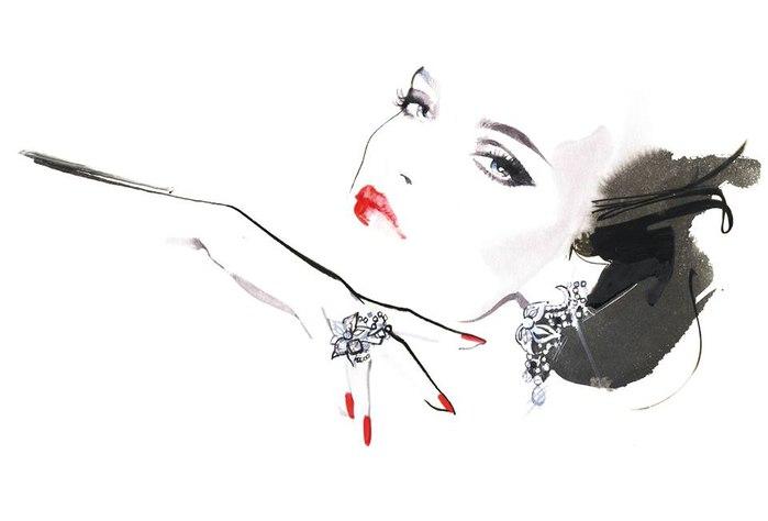 Иллюстрации Дэвида Даунтона для модной индустрии