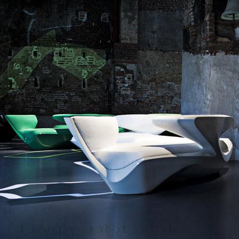Дизайнерская мягкая мебель - диван Зефир Захи Хадид