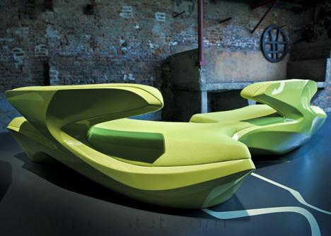 Диван Зефир - биодизайн мебели от Захи Хадид