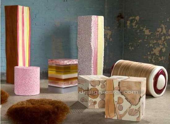 Дизайнерская полиуретановая мебель на Миланском салоне