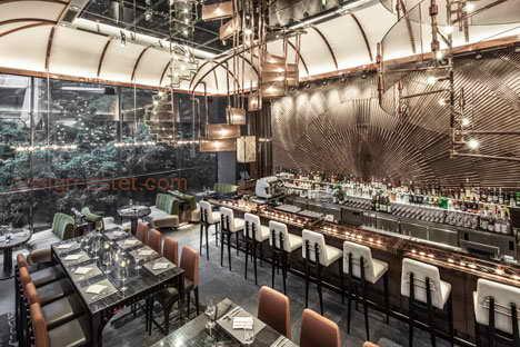 Концепция дизайна ресторана в стиле лофт