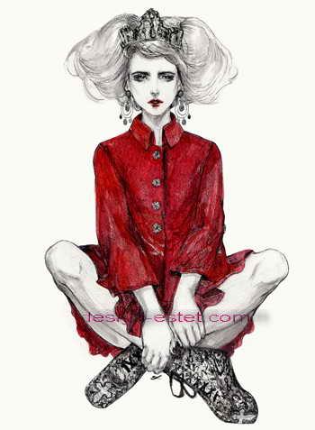 Иллюстрация для модной одежды Дольче Габбана