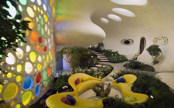 Органический дизайн дома ракушки в Мексике