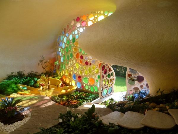 Интерьер дома ракушки от мексиканского архитектора Хавьера Сеносиана