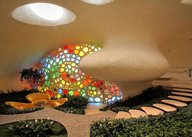 Фото дома ракушки в Мехико внутри