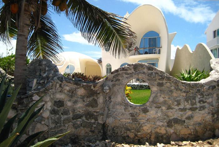 Биодизайн дома ракушки в Мексике