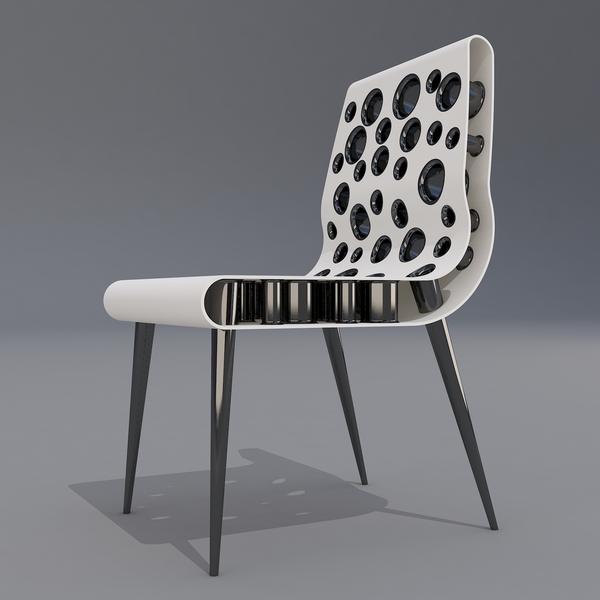 Дизайн футуристического стула