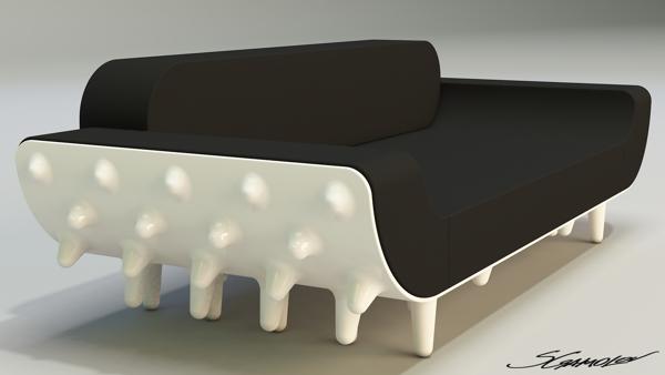 Дизайн футуристического дивана