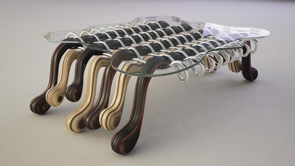 Дизайн футуристического журнального столика