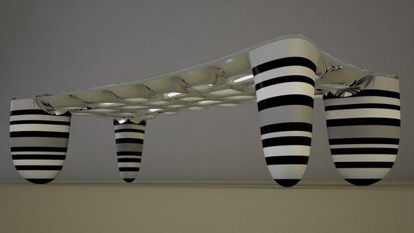 Дизайн футуристического кофейного столика