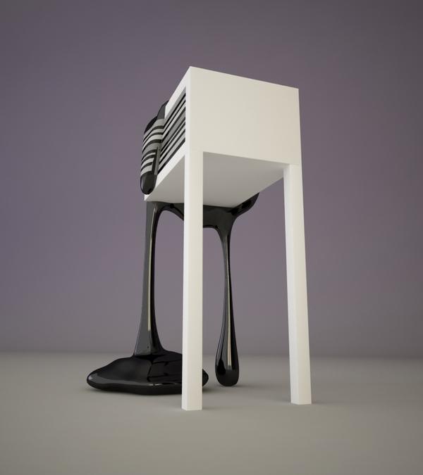 Дизайн футуристического барного стула