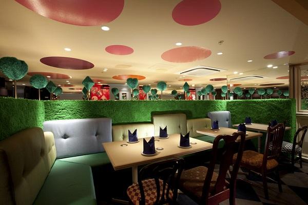 Дизайн интерьера ресторана в стиле Алиса в стране чудес
