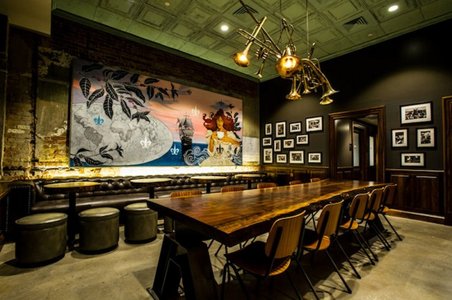 Интерьер кафе в стиле американского ретро