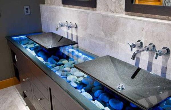 Натуральный камень в дизайне интерьера ванной комнаты