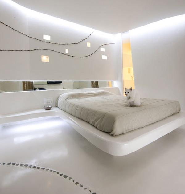 Натуральный камень в отделке интерьера спальни