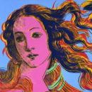 Венера Ботичелли на картине Уорхола в стиле поп-арт