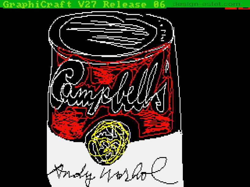 Графическая картина Энди Уорхола с супом Кэмпбелл