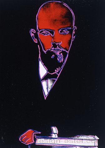 Картина Уорхола с изображением Ленина