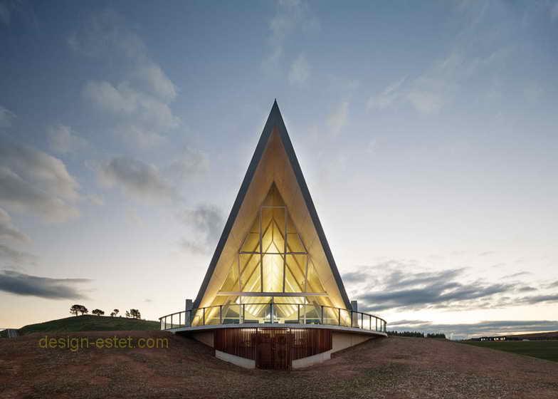 Оригинальная архитектура садово-паркового павильона в Австралии