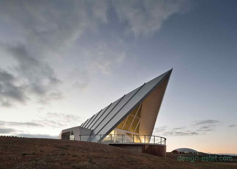 Необычная архитектура павильона в австралийском парке