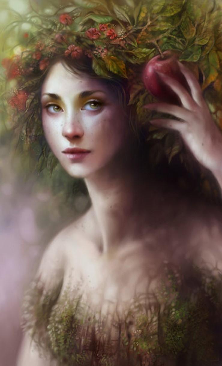 Женский портрет в стиле сюрреализм от Анны Диттманн