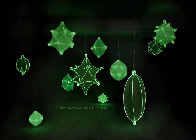 Потолочные подвесные тканевые люстры из 3d-тканого текстиля