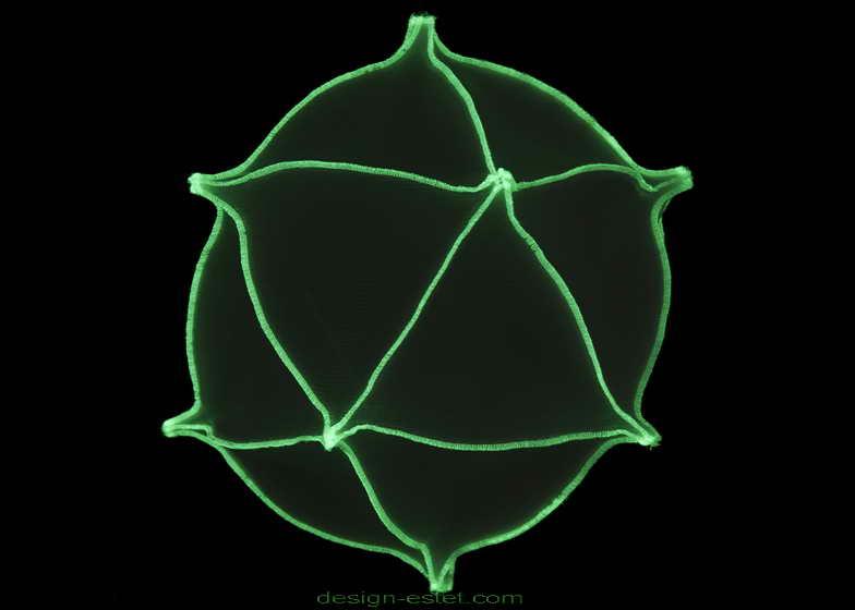 Круглые плафоны из ткани для бионических потолочных люстр