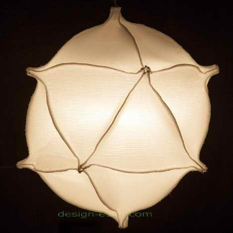Подвесные потолочные люстры c плафонами из 3d-ткани
