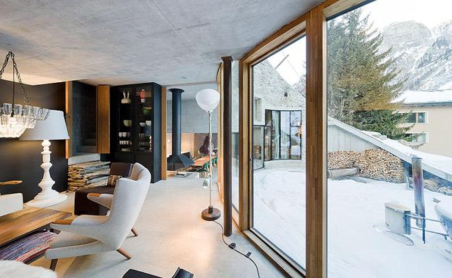 Проект дома под землей с одним стеклянным фасадом