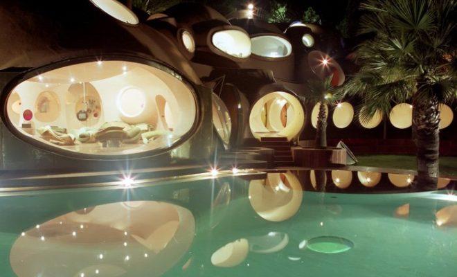 Пузырчатый дом Пьера Кардена во Франции - фото биоархитектуры