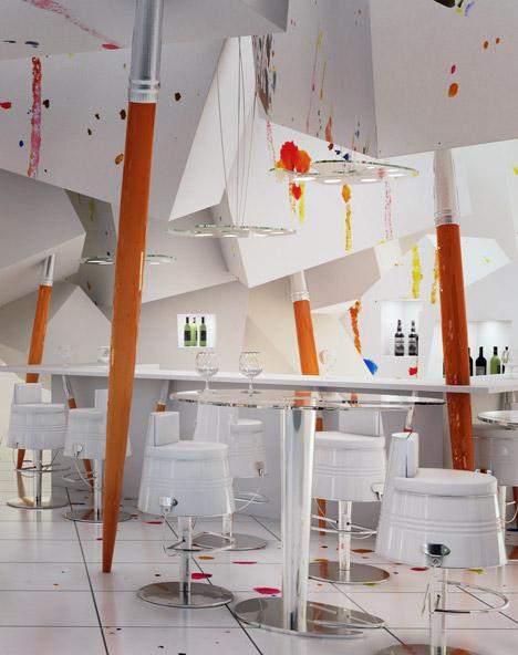 Ресторан в белом стиле