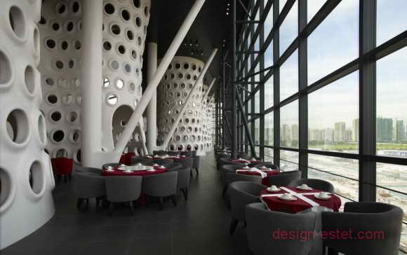 Колонны и несущие конструкции для ресторана в стиле модерн