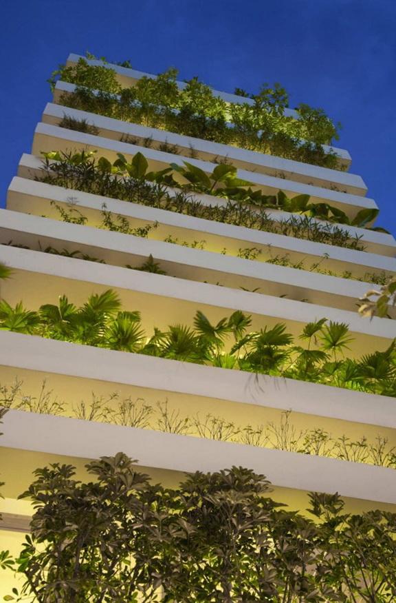 Вертикальные сады для городских зданий