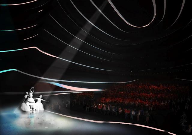 Бионический дизайн интерьера оперы в Бусане от OODA
