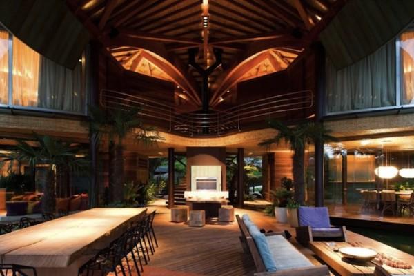 Террасы в дизайне частного дома в эко-стиле