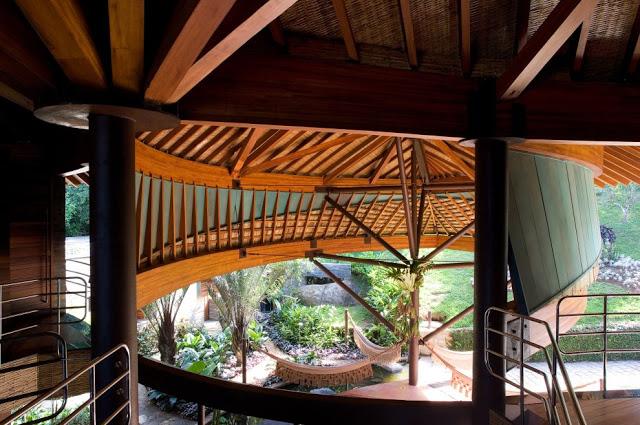 Крыша в архитектуре частного дома в эко-стиле