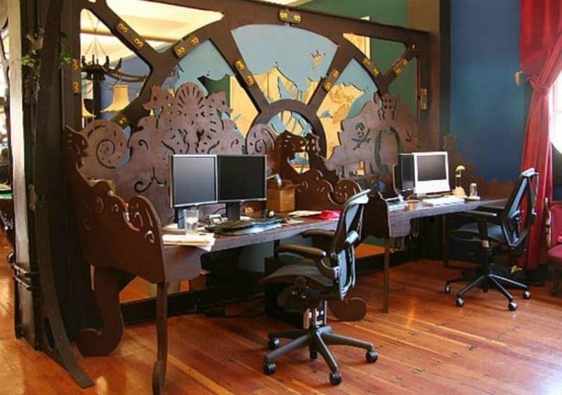 Дизайн интерьера офиса в стиле стимпанк